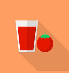 tomato juice icon set of great flat icons design vector image