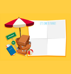 travel object in banner vector image