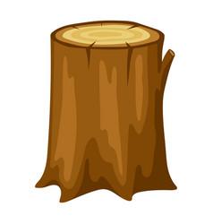Tree stump adversting image vector