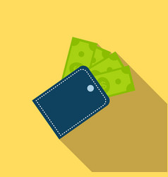 Wallet icon in flat style vector