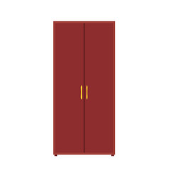 Wardrobe closet icon furniture shelf clothe vector