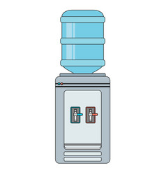 Water cooler flat vector