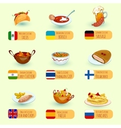 World Food Set vector