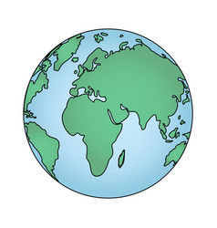 World map cartoon vector
