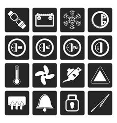 Black Car Dashboard icons vector image