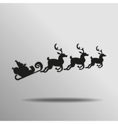 black Santa Claus Driving in a Sledge Icon button vector image