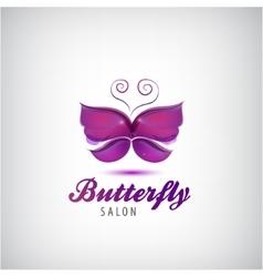 butterfly logo Spa salon icon vector image vector image