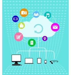 Cloud technologies - Infographics vector image