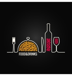 food and drink menu background vector image