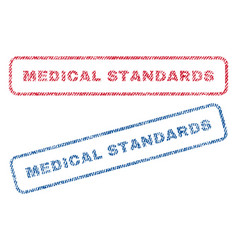 medical standards textile stamps vector image vector image