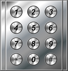 Metal phone keypad vector image vector image