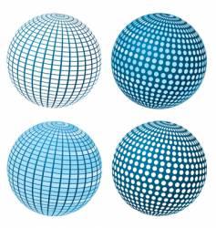 sphere set vector image