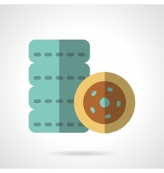 Tires flat color icon vector image
