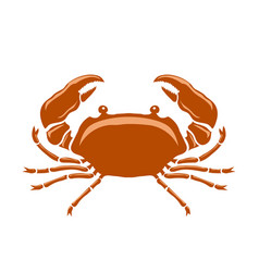 boiled sea red crab with giant claws vector image