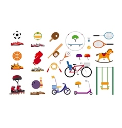 Childrens sports equipment vector image vector image