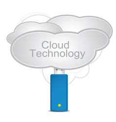 cloud technology vector image