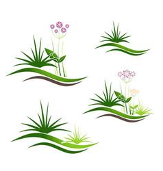 Landscape logo design set vector