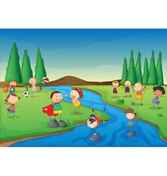 River scene vector image vector image