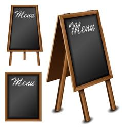 Wood blackboard set for menu vector image