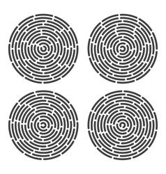 abstract fingerprint set vector image vector image