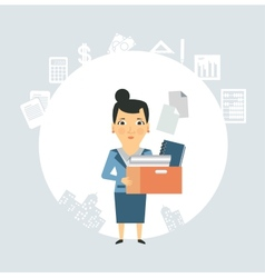 Accountant is documents and accounts vector