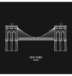 Brooklyn Bridge Icon 1 vector image vector image