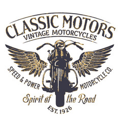 classic vintage motorcycle company vector image vector image