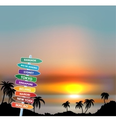 Exotic trip Eps10 background vector image vector image