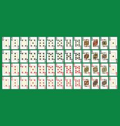 full poker deck vector image