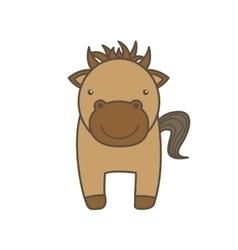 horse cartoon icon Animal farm design vector image