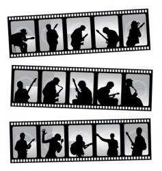 music filmstrip vector image