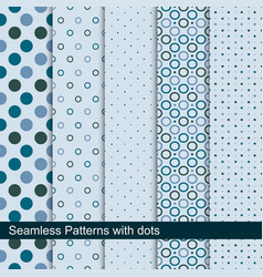 simple dotted patterns seamless collection vector image