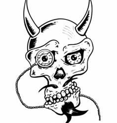 skull w- glass eye vector image