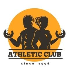 Sport Athletic Club Emblem vector image vector image