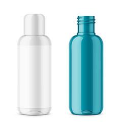 transparent plastic cosmetic bottle template vector image