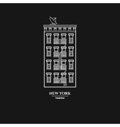 Brooklyn Buildihg Icon vector image