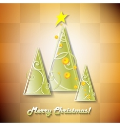 Cute cartoon Christmas tree vector image