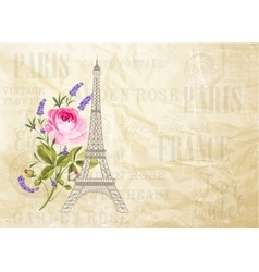 Eiffel tower card vector image vector image