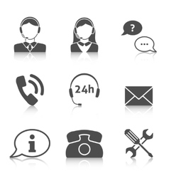 Support service icons set vector image