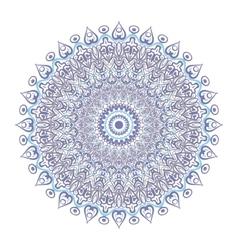 Symmetrical circular pattern mandala isolated on vector