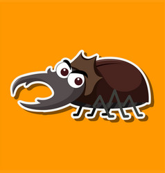 a beetle cartoon character vector image