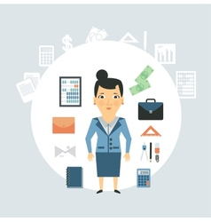Accountant of working things vector image