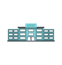 Airport building icon flat style vector image