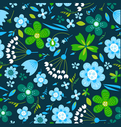 Amazing floral seamless pattern of flowers vector