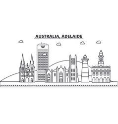 Australia adelaide architecture line skyline vector