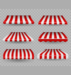 awnings outdoor striped awning for cafe and vector image