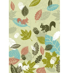 background of hand draw leafs vector image