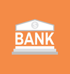 bank icon saving or accumulation of money vector image