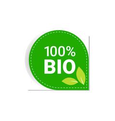 bio natural product sticker organic healthy vegan vector image