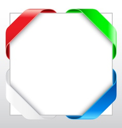 Blank ribbon border vector